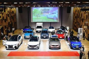 日本自動車輸入組合 電動車普及促進イベント、EVやPHV展示