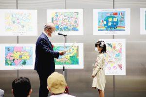 宮城県自動車会議所 バス身近に感じて、小学生絵コンテスト協賛